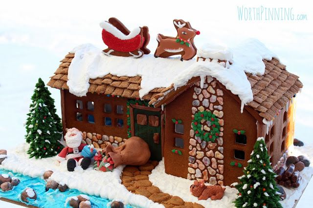 """""""Up on the Rooftop"""" Gingerbread House_ a little over my skill level this year, maybe next!"""
