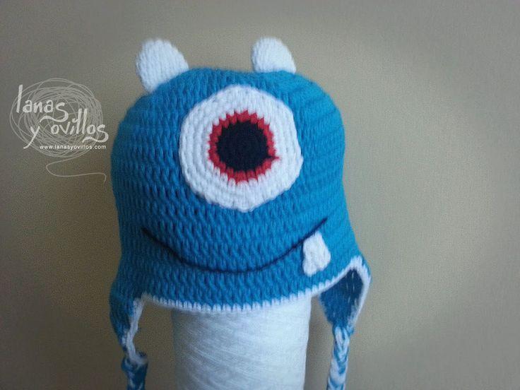 Tutorial Gorro Crochet Monstruo Paso a Paso