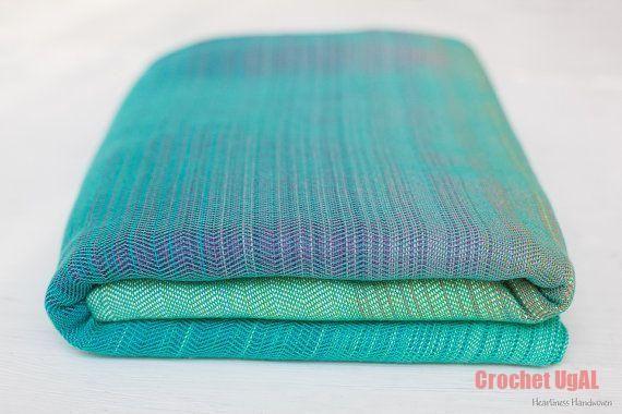 Summertime Baby Wrap, turquoise cotton weft, size 6 häkeln
