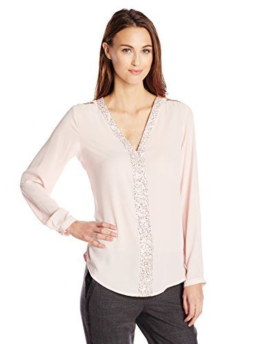 Wear To Work Womens Long Sleeve Pullover with Chain Trim  www.weartowork.us #weartowork #Blouse
