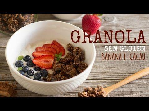 Granola sem gluten de cacau e banana   Made by Choices