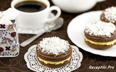 Шоколадное печенье-сэндвич с кокосовой начинкой - Пошаговый фото рецепт