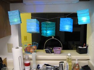 Folding Paper Lantern Tutorial Popsicle Sticks Tissue