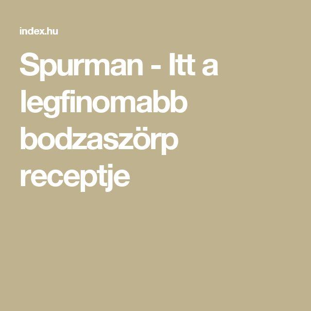 Spurman - Itt a legfinomabb bodzaszörp receptje