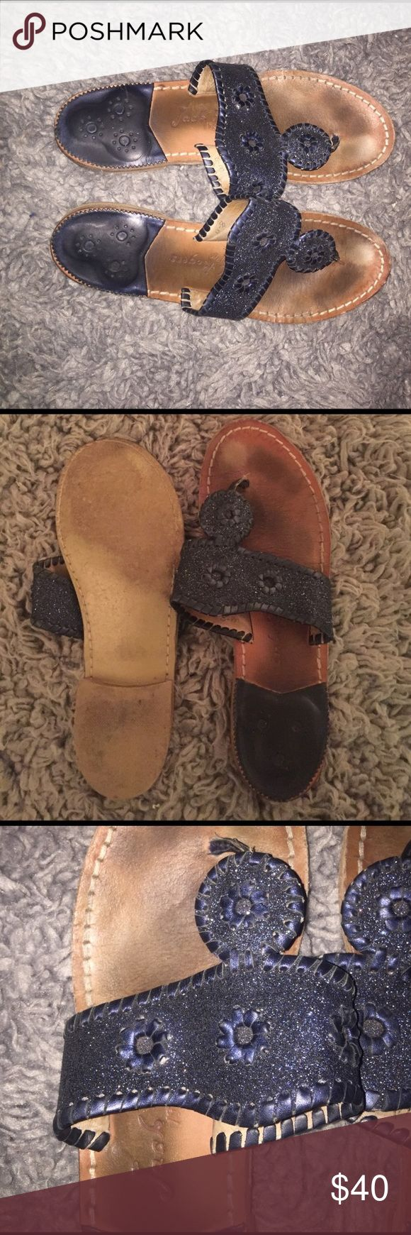 😎💙 Midnight Black Jack Rodgers sz 8 😍🌴 😎💙 Midnight Black Jack Rodgers sz 8 😍🌴... perfect black jacks with just a hint of sparkle Jack Rogers Shoes Sandals