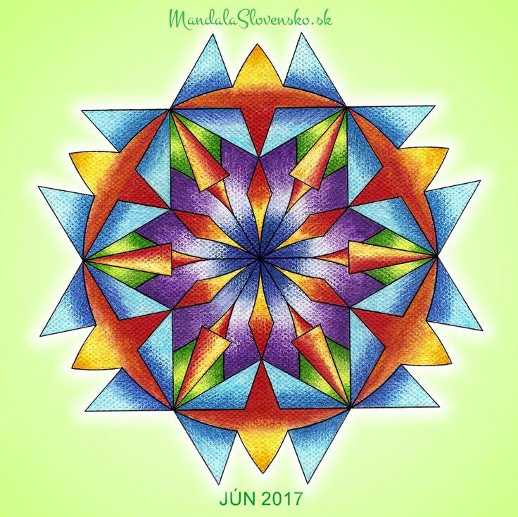 Mandala mesiaca Jún 2017 Moja cesta je môj cieľ. Smerujem jasne, presne a plynulo. #mandala #mandalaslovensko #mandalaslovakia #healingart #sacredgeometry #june2017