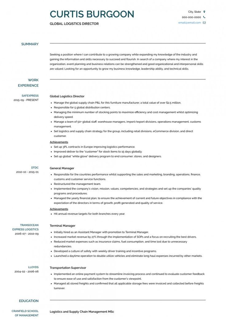 41+ Easy Resume Examples General Classic in 2020 Resume