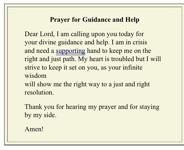Prayer For Guidance – Daily Inspiration Quotes