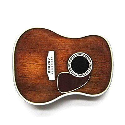 Acoustic Guitar Body Dreadnaught Belt Buckle