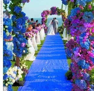 Blue and purple wedding colors