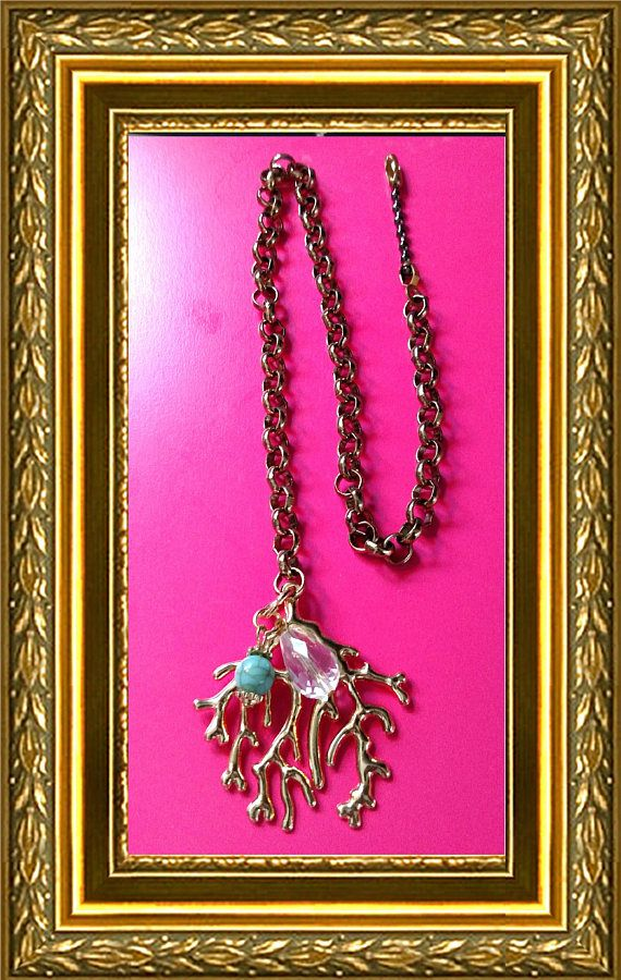 Ceiling Fan Pull Chain / Home Decor  Gold Coral Reef  Gold