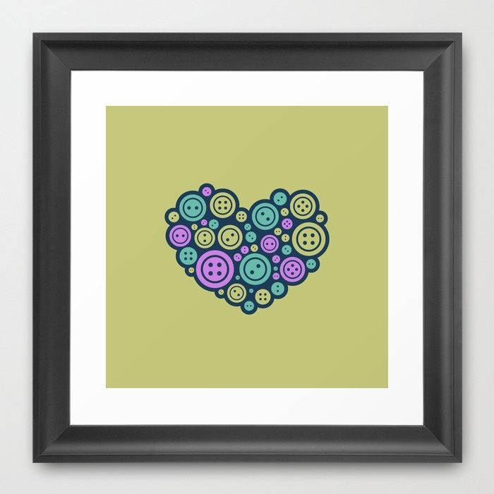 Heart of a Tailor Framed Art Print