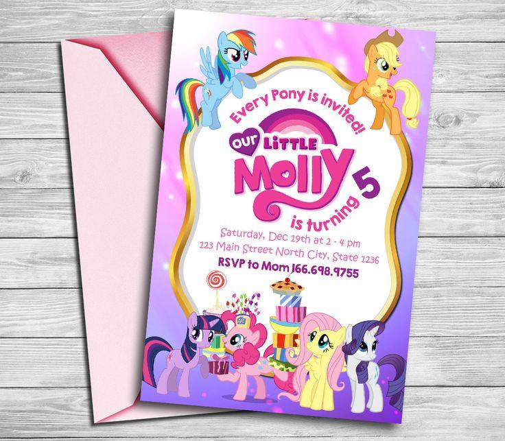 Mi pequeño Pony invitación mi invitación de Pony pequeño mi