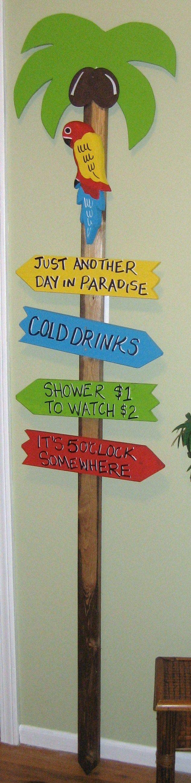 Tropical Tiki Bars - Tiki Bar Signs                Ask us about customizing your sign!