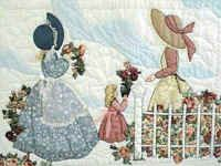 "MEG - ""Gentlewomen Bonnet Girls Relatives & Friends""  Garden Club.  Variation #3."