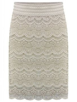 Item Type: Lace High Waist Skirt Decoration: Lace Material: Lycra, Polyester, Spandex Dresses Length: Knee-Length Color: White, Black Size: S, M, L, XL, XXL, 3XL, 4XL, 5XL US Customers: Please choose