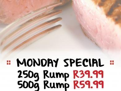 Mikes Kitchen Alberton Monday Specials - Rump