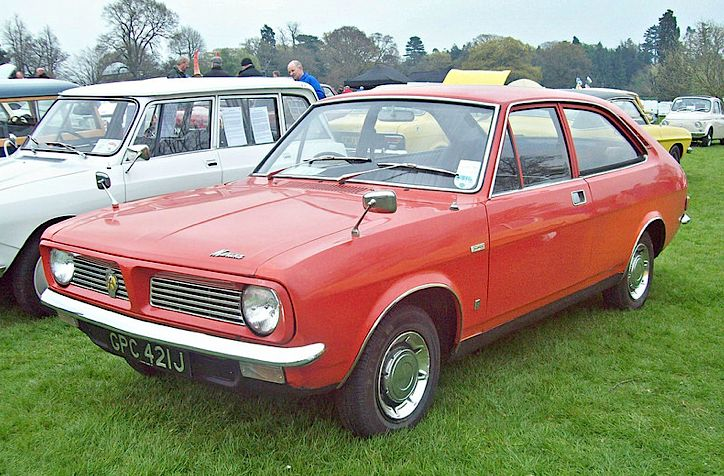 1970 Mmorris Marina 1.3 Super Coupe 2-Door 1275cc 4-Cylinder OHV Engine (Replacement Reg plate is later date) Photo by Robert Knight.