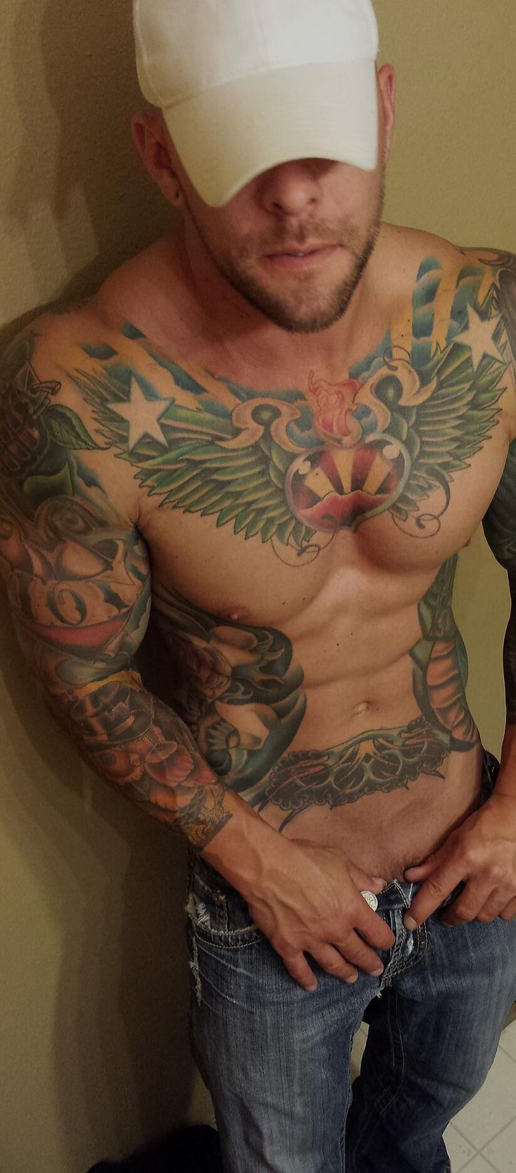 mild2wildbra:  Always I consider tattoo like an appeal, and lately colored inks are so turning me on with extra potence…  Handsome Men. Beautiful Ink. Deliciously Furry. Follow: http://tattooandscruff.tumblr.com