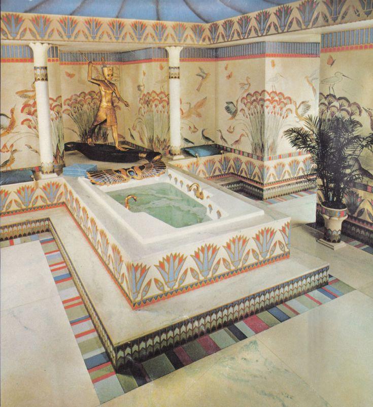 egyptian design of bath
