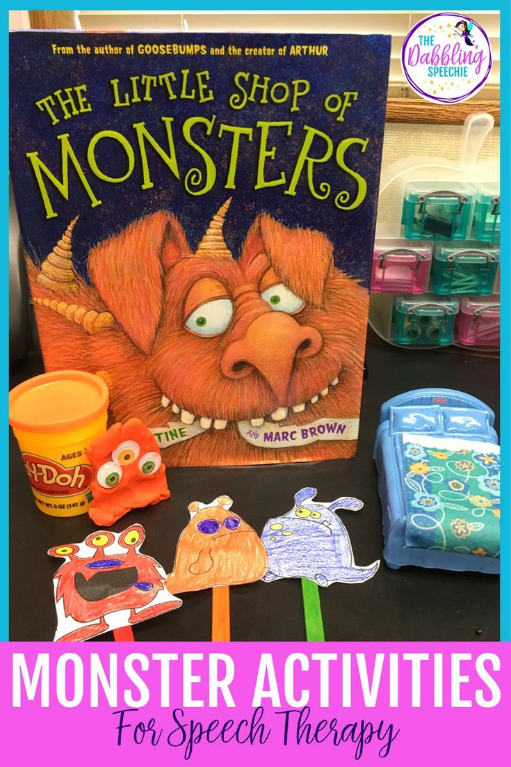 monster activities for speech therapy that will target articulation, language, basic concepts and social skills.