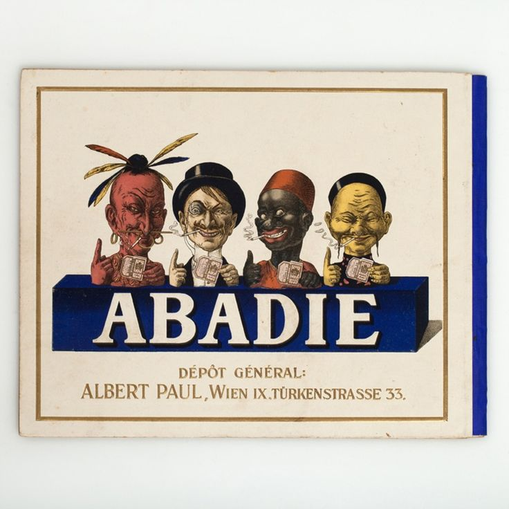 "This elegant catalogue from 1913/14 advertises ""Zigarettenpapier, Zigarettenhülsen, Papierzigarrenspitzen, Zigarettenmaschinen"" (Cigarette paper, Cigarette tubes, Paper Cigar Tops, Cigarette Machines) of the company Albert Paul ""ABADIE"""
