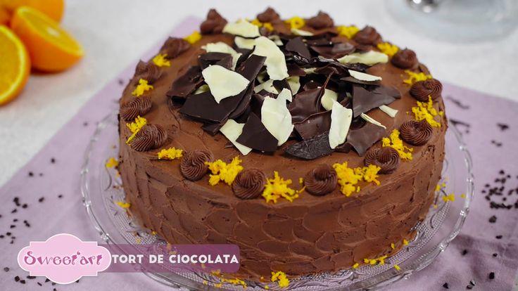 Reteta - Tort de ciocolata cu crema fina si blat pufos | Bucataras TV