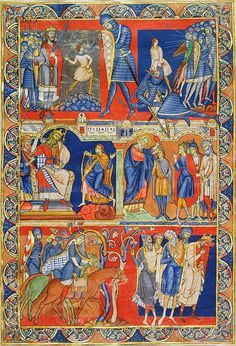Scenes from the Life of David Leaf from the Winchester Bible Illuminated by the Master of the Morgan Leaf England, Winchester, Cathedral Priory of St. Swithin, ca. 1160–80 583 x 396 mm Purchased by Pierpont Morgan, 1912; MS M.619 (verso) Described as the finest English painting of the twelfth century, this is the Morgan's most important single leaf.