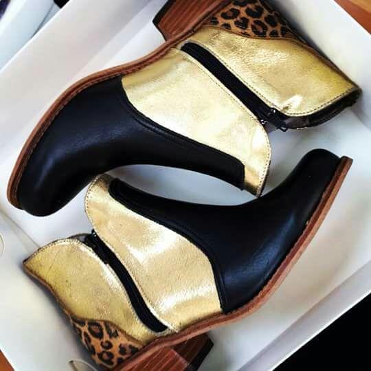 ❤️Rosita Negro Oro Leopardo