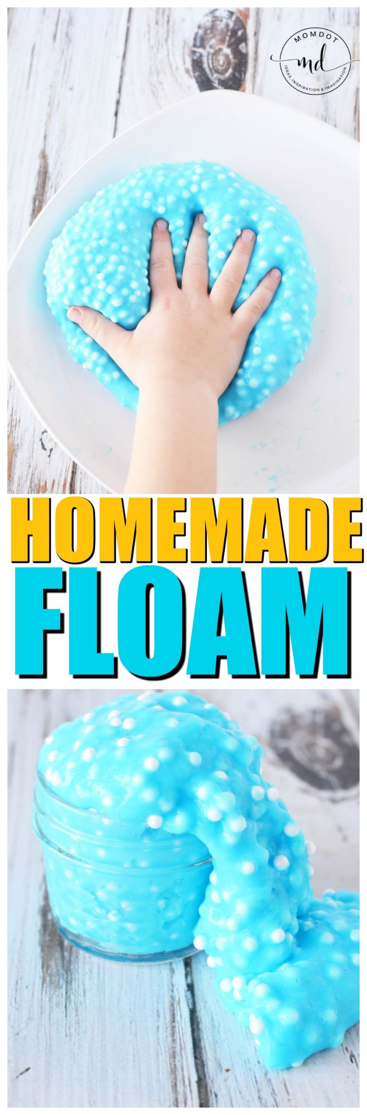 Homemade Floam: DIY Floam Recipe Homemade floam is so easy! Simply take a slime recipe and combine it with Styrofoam balls, adding as many or as few as you want for a different texture outcome. See what floam recipe I liked the best and learn how to make floam right at home today!