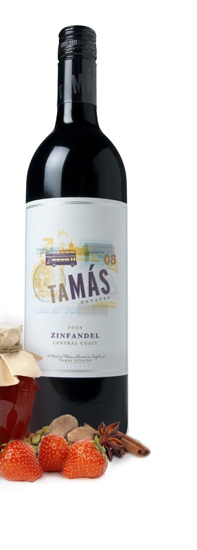 Tamas Estates, Zinfandel, Central Coast, priced well, warms the cockles.