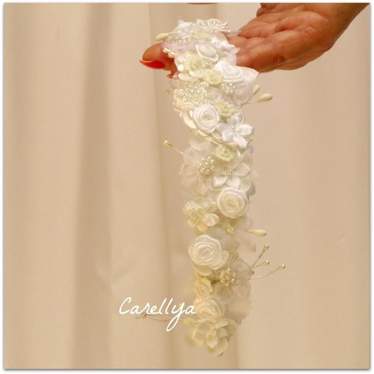 Bridal Floral Head piece - Flower Head Wreath