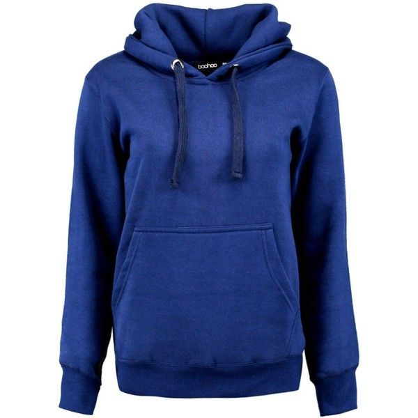 Boohoo Ivy Solid Oversized Hoody | Boohoo (16 CAD) ❤ liked on Polyvore featuring tops, hoodies, hoodie top, oversized hoodies, oversized tops, oversized hooded sweatshirt and blue top