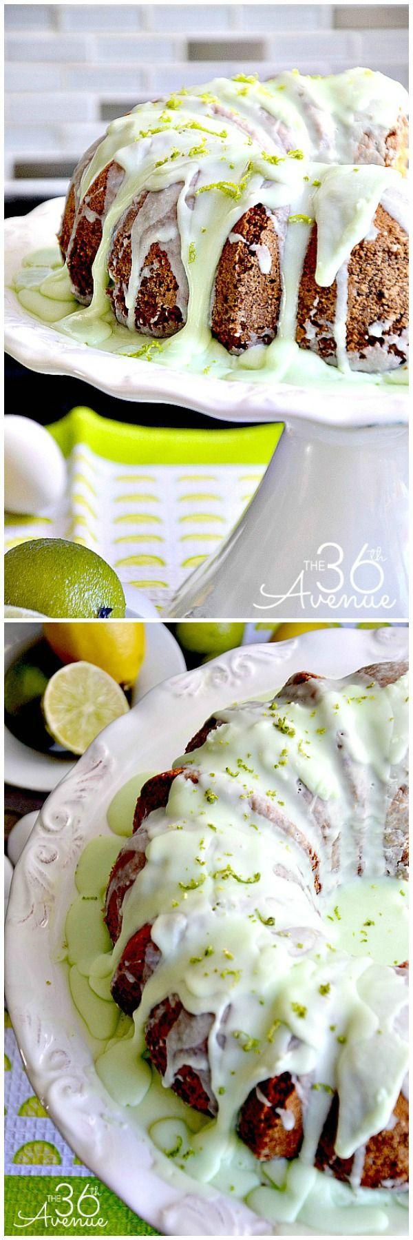 Delicious Key Lime Yogurt Bundt Cake Recipe. the36thavenue.com