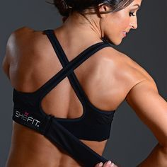 Shefit Custom High Impact Sports Bra | Do you have large or augmented breasts, are nursing or an expecting momma? Shefit high impact sports bra this bra will change your life. With adjustable straps in the front, a zip up easy on front closure and adjustable band this patented sports bra will allow you to work out in comfort! Discover our sports bra for big busted women http://shefit.com/shop-womens-athletic-apparel/high-impact-sports-bra/ultimate-sports-bra.html