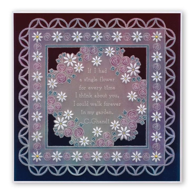 Tina's Rosie Doodle Wreath A5 Square Groovi Plate (Set GRO-FL-40846-XX – Claritystamp