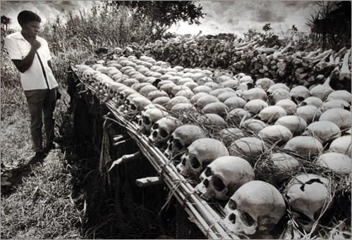 Some of the victims of the Idi Amin regime recovered by local farmers in the fertile fields of the Luwero Triangle region north of the Ugandan capital of Kampala in 1987. Description from links.org.au. I searched for this on bing.com/images