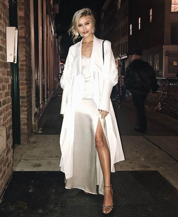 Sarah Allen in all white