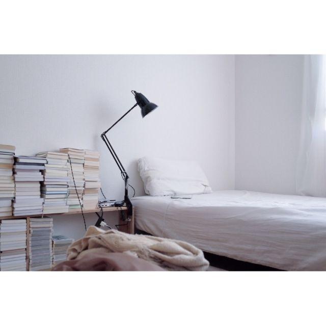 Gentaさんの、Bedroom,インダストリアル,白のチカラ,一人暮らし,メンズ部屋,シンプル,賃貸,古道具,塩系インテリアの会,無印良品,アンティーク,のお部屋写真
