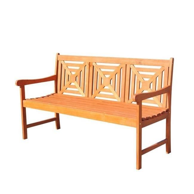 Outdoors Garden Bench 5 Foot Wood Patio Furniture Porch Seat Weather Resistant #OutdoorsGardenBench