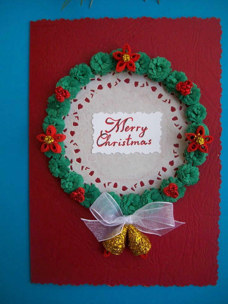 Quilling Christmas card, Chrismas card, Quilled Chrismas card, Quilling Art chrismas card, Paper Quilling de HandmadeTedy en Etsy