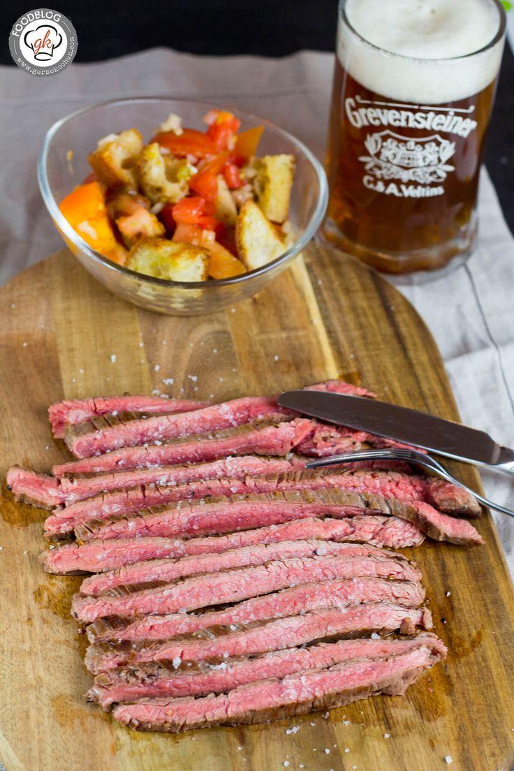 Kommen wir zum Flank Steak! In den USA ein wirklich beliebtes Steak, ist es hier unbekannt und landet meist leider im Fleischwolf... Ich könnte heulen!!!