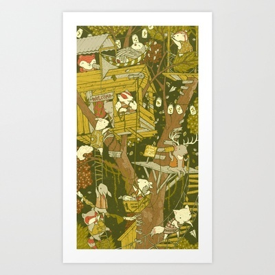 The Fort Art Print by Teagan White - $17.00