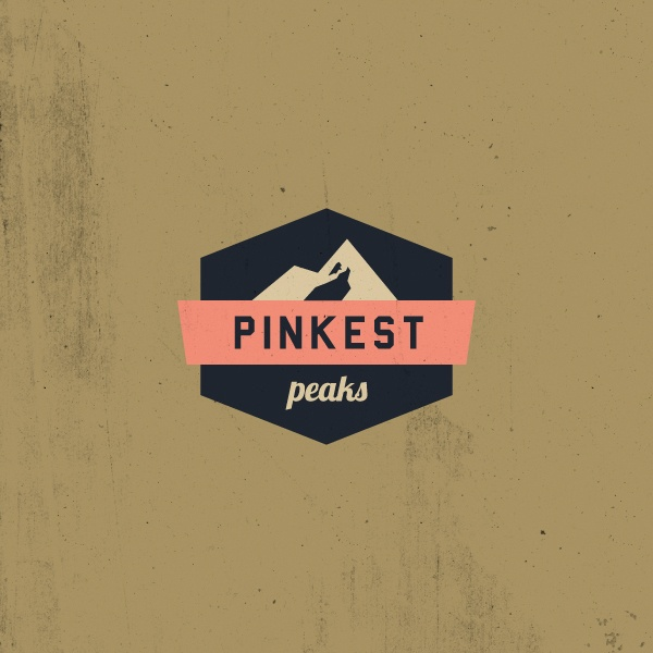 Pinkest Peaks logo by Anna Kovecses, via Behance