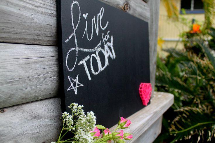 String Heart Chalkboard - Pink