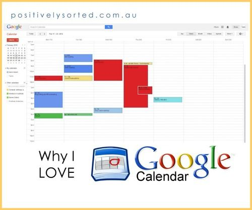 What I love about Google Calendar