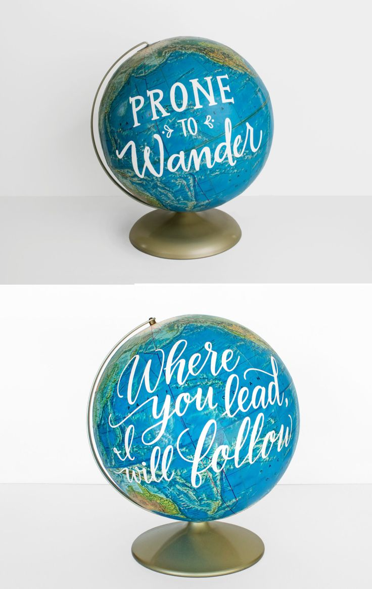 Vintage Globes With Beautiful & Inspirational Calligraphy Quotes Will Induce Wanderlust in Your Soul Graphic designer Laura Maxcy needed a hands-on creative outlet which didnt involve the digital world to infinitely inspire her. A free-spirit with a nomadic soul Maxcy began hand lettering quotes on vintage landscape prints she found during thrift store visits to decorate her room. After gaining much practice she drew inspiration from Transcendentalist writers such as Henry David Thoreau…