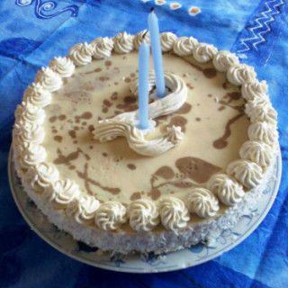 """Narozeninový dort """"tvarohovo-želatinový"""""""