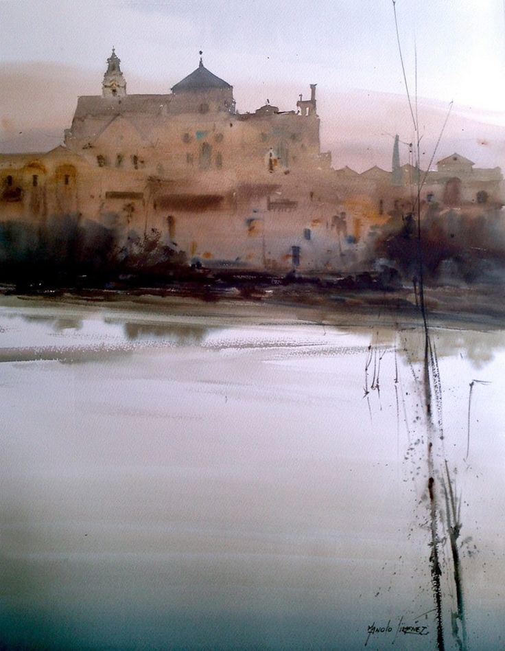 Manolo Jiménez - Córdoba y el Rio 100 x 81cm