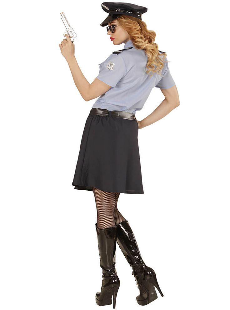 Traje de policía para mujer talla grande